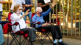 A mask and parade: Jimmy Carter celebrates 96th birthday