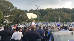 Joe Biden hosts drive-in campaign event in Atlanta