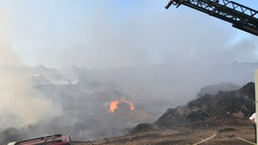 Officials: Massive fire rages at Georgia mulch company for days
