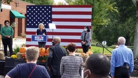 Jill Biden urges Georgians to vote early in Monday campaign stops