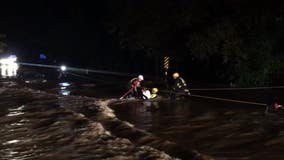 Georgia firefighters called heroes for dramatic swift water rescue