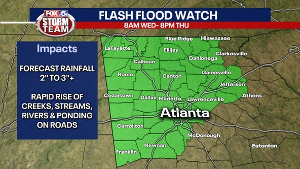 Flash Flood Watch issued for north Georgia as Tropical Storm Zeta eyes Gulf Coast