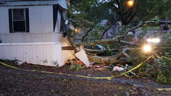Man dies after tree falls on Cherokee County home