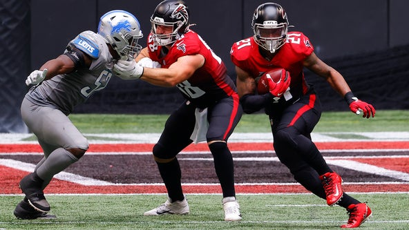 Defense gives up last second TD, Falcons fall to Lions 23-22