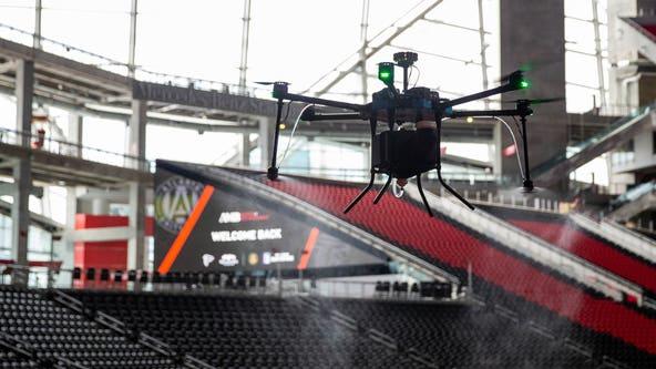 Mercedes-Benz Stadium adds drones to sanitization program