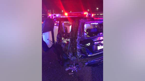 Police: Suspected drunk driver crashes into Georgia officer's patrol car
