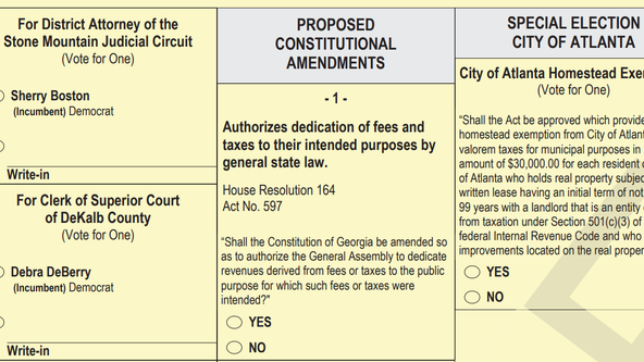 What Amendment 1 on the Georgia ballot means for taxpayers