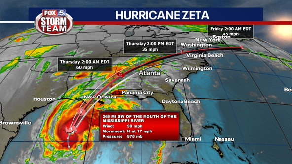 Tropical Storm Warning for North Georgia as Zeta moves toward Gulf Coast