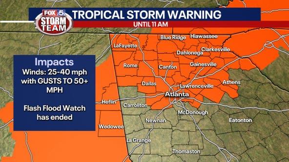 Tropical Storm Warning: Zeta causing widespread wind damage across North Georgia