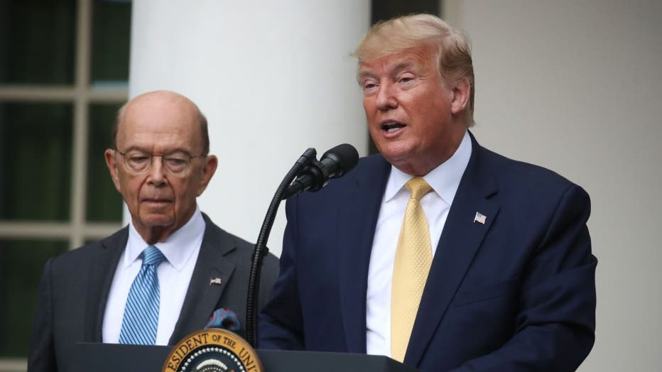 935ca644-President Trump Holds News Conference In Rose Garden On Census And Citzenship