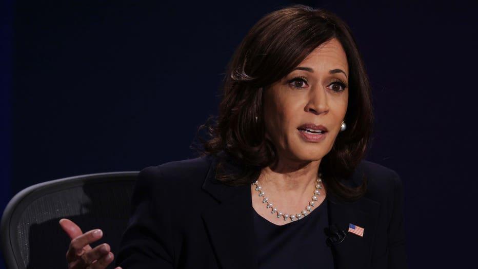 f844da90-Mike Pence And Kamala Harris Take Part In Vice Presidential Debate