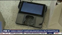 Zero credit card balances all but disappear