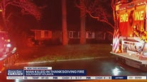 Man killed in Thanksgiving fire