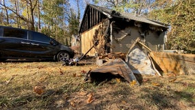 Fire destroys Georgia family's home on daughter's 2nd birthday