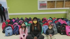 Kids donate backpacks to Winder charity targeted by arsonist