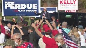 Vice President Pence headlines rallies for Loeffler, Perdue