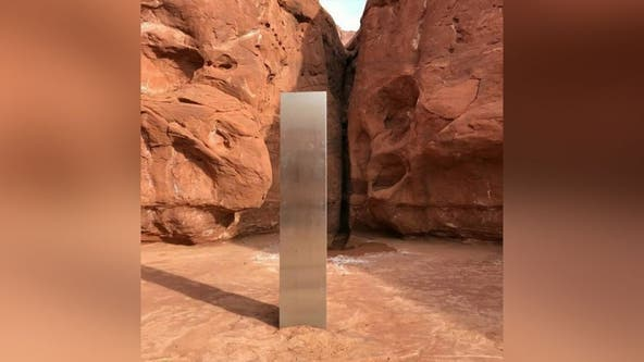 Instagram user says he witnessed group dismantle mysterious silver monolith in Utah