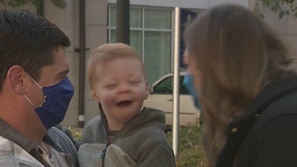 Couple gives back to Atlanta hospital that saved son's life