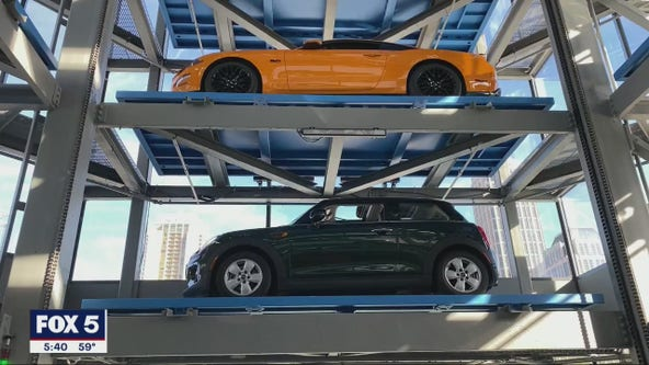 Tour the new Carvana 'car vending machine' tower in Midtown Atlanta