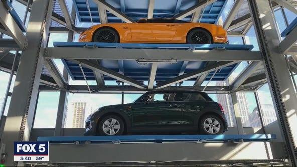 Tour the new Carvana 'car vending machine' tower in Midtown Atlanta