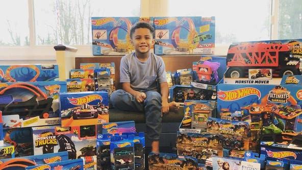 Georgia boy gathering Hot Wheels to donate to children on Christmas