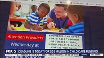 Deadline for Child Care Funding