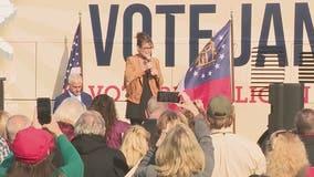 Former Alaska Gov. Sarah Palin campaigns for Loeffler, Perdue