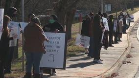 Protests against DeKalb schools re-opening enter second week