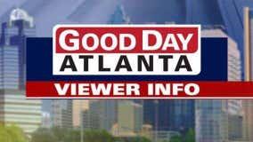 Good Day Atlanta viewer information December 29, 2020