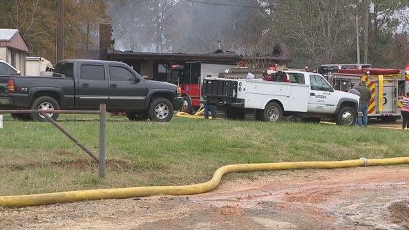 2 dead, 1 critical after Barrow County house fire