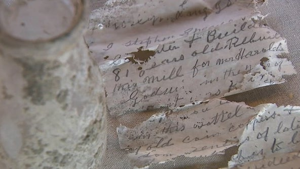 1917 time capsule found under floor of historic grist mill on Long Island