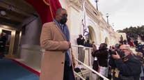 'Hero' US Capitol Police officer escorts Vice President-elect Kamala Harris at inauguration