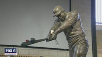 Fans flock to Truist Park to honor Hank Aaron