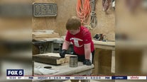 8-year-old woodworker helps community