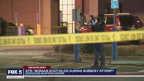 Woman shot during robbery