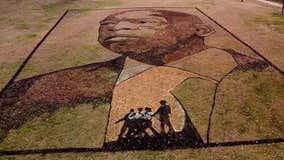 'Earthwork' tribute to John Lewis unveiled in Atlanta