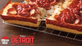 Pizza Hut introduces a new Detroit-style pizza, available nationwide