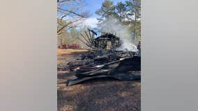 Deputies searching for suspects in burning of historic Georgia church