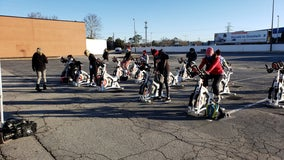 Spinning under the open sky with Cyclebar East Cobb