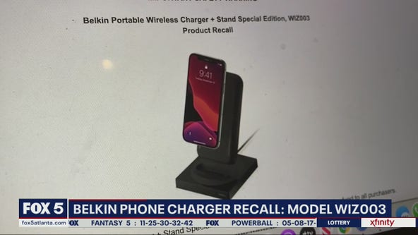 Portable smart phone charger recall