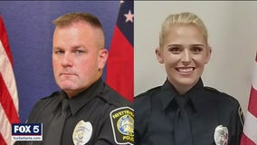 Fayetteville police officers rescue 2 people from fiery crash