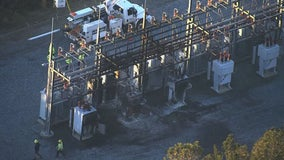 Fire breaks out at Sawnee EMC power transfer station in Buford