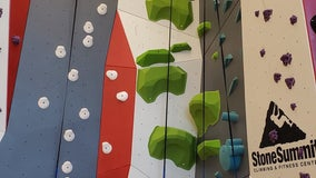 Climbers aim to break down barriers by building walls