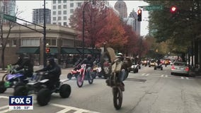 Dirt bikers swarm streets in Downtown Atlanta