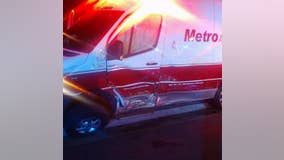 Ambulance hit twice in 1 day, crew still finishes their shift
