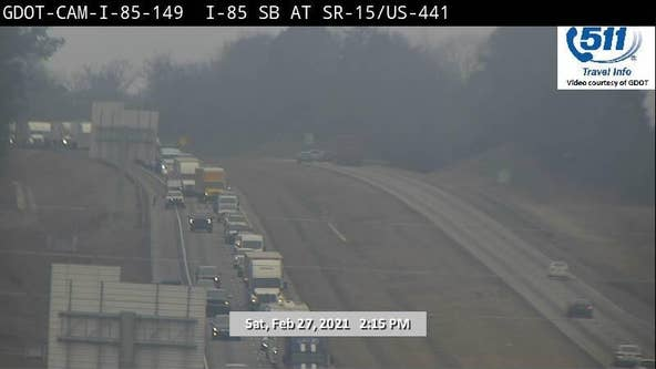 TRAFFIC ALERT: Crash in Banks County causing delays on I-85 northbound