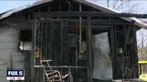 12-year-old hosptialzed after house fire