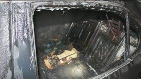 Coweta County deputies seek suspect in death of a man found in burned car
