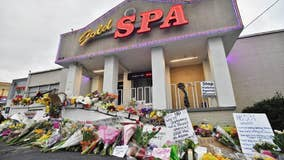 Lawmakers decry violence against Asians on trip honoring spa shooting victims