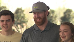 Falcons tight end Hurst hosts charity golf tournament, looks forward to next season
